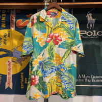 POLO RALPH LAUREN flower aloha shirt (L)