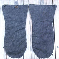 no brand denim mitten gloves
