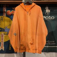 no brand paint zip-up hoodie