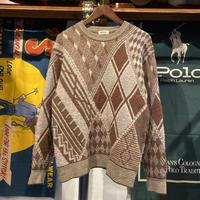 ROVELLO dia pattern knit sweater (M)