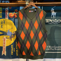 CHAPS argyle knit vest (L)
