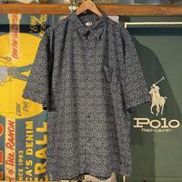 au SIXTY GOUR spuare Pattern S/S Shirts (XL)