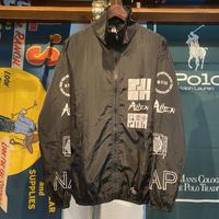 M.Y.O.B print nylon jacket