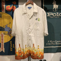 PURITAN tequila  bottles pocket shirt (L)