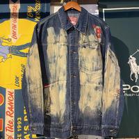 ecko unltd bleeched denim jacket (M)