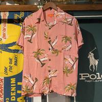 "GLANESS WORK ""sulf pattern"" open collar shirts (M)"