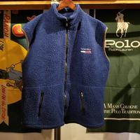 TOSH sports wear tommy fleece zip vest (XL)