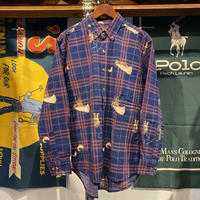 OAKTON fishing design check shirt (M)