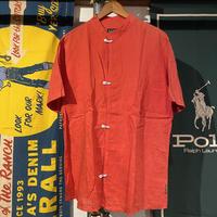 【Web限定】ARMANI JEANS no collar hook button shirt (L)