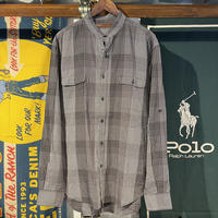 PERRY ELLIS Stand Collar Check Shirts