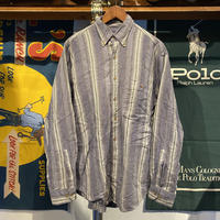 LANDS' END stripe shirt (M)
