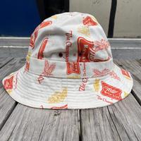 Budweiser logo print bell hat