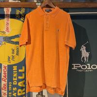 POLO RALPH LAUREN pile fabric polo shirts (M)