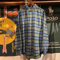 POLO RALPH LAUREN small pony  check pattern shirt (XL)