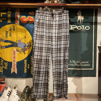 TOMMY HILFIGER check fleece pants (L)