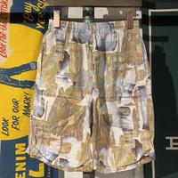 No brand design print easy half pants (L)