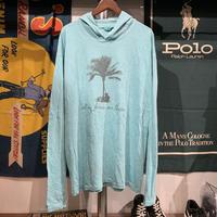COMFORT COLORS  Palm tree & guiter hoodie  (L)