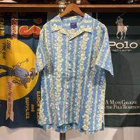 Aloha wood buton cotton S/S shirt