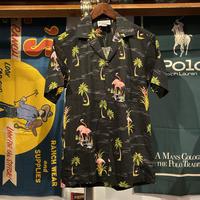 PACIFIC LEGEND flamingos aloha shirt (S)