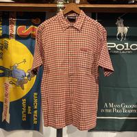 BEAR cotton check pocket S/S shirt (M)