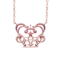 WIND CROWN-PG18K necklace-