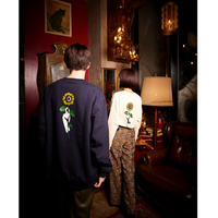 SUN FLOWER SWEAT SHIRT (NAVY) 20001