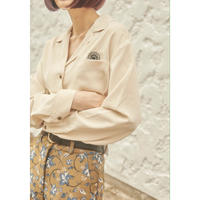 SUN FLOWER OPEN COLLAR LONG SHIRT   (70006)