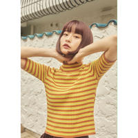 MULTI BORDER KNIT YELLOW(R020003EF)