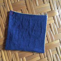 藍とべんがらのコースター A 2枚組