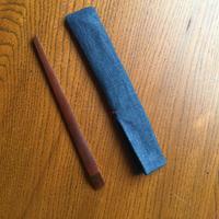 煤竹の菓子切り+藍の菓子切り入れ ②