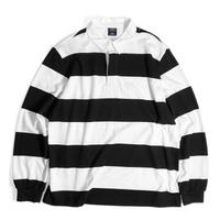 Charles River Apparel Classic Rugby Shirts - Black/White