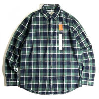 St. John's Bay Classic Fit Flannel Shirts - Navy Green Plaid