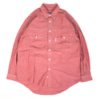 USED Budweiser Chambray  Shirt - Red