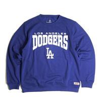 MLB Official Los Angeles Dodgers Crewneck Sweat Shirts - Royal