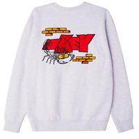 OBEY Brick by Brick Crewneck Sweat Shirts Ash