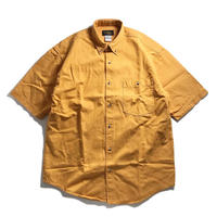 Cobra Caps Short Sleeve Heavyweight Denim Shirt -  Mustard