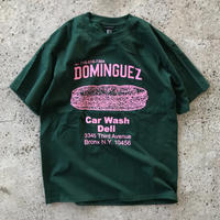 THE DOMINGUEZ CORP SANDWICH TEE - GREEN / PINK