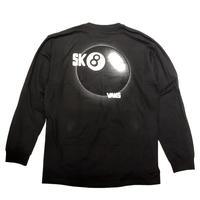 VANS SKATE BALL II LONG SLEEVE TEE - BLACK