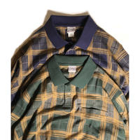 Haband L/S Plaid Polo Shirts