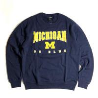 Colosseum Michigan Wolverines Crewneck Sweat - Navy