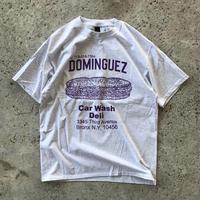 THE DOMINGUEZ CORP SANDWICH TEE - ASH GREY / PURPLE