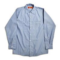 Red Kap L/S Stripe Work Shirt - Blue/White