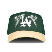 Sworn To US City of Angels A-Frame Snapback - Green/Tan