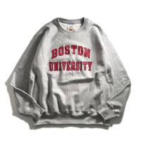 Boston University Reverse Weave Crewneck Sweatshirts - Grey