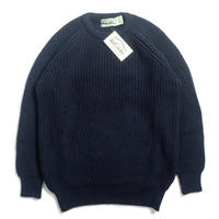 West End Knitwear Fisherman Crewneck Sweater - Navy