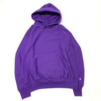 CHAMPION 1 POINT REVERSE WEAVE HOODIE - PURPLE
