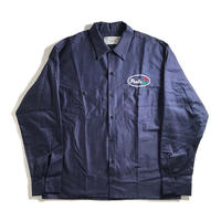 Peels Embroidered Oval Logo Work Shirt - Navy