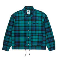 POLAR SKATE CO PLAID WORK JACKET Peppermint