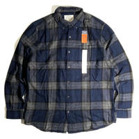 St. John's Bay Classic Fit Flannel Shirts - Sig Navy Plaid