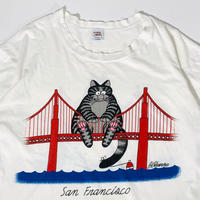 used 90's crazy shirts kilban cat sanfrancisco tee